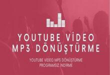 YouTube Video Mp3 Donusturme Programsiz Indirme