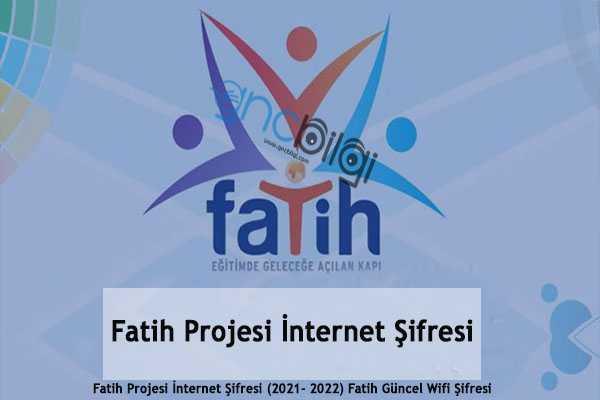Fatih Projesi Internet Sifresi
