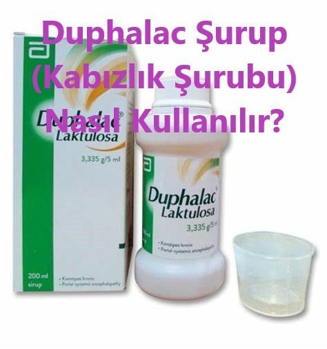 Duphalac Surup Kabizlik Surubu Nasil Kullanilir