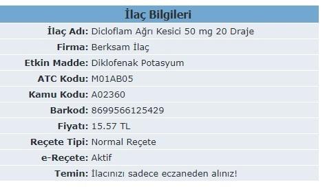 Dicloflam Ne Icin Kullanilir
