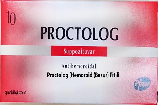 Proctolog Hemoroid Basur Fitili Ne Icin Kullanilir