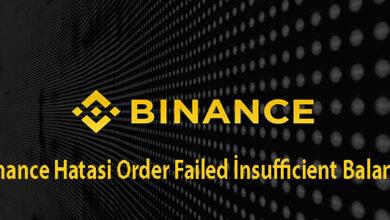 Binance Hatasi Order Failed Insufficient Balance