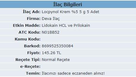 LocpynolKrem Fiyati