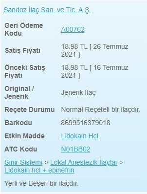 Anestol Pomad Fiyati