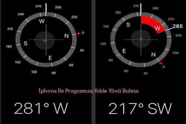 Iphone Ile Programsiz Kible Yonu Bulma
