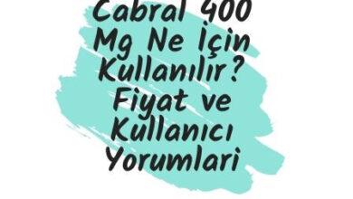 Cabral 400 Mg Ne Icin Kullanilir Fiyat ve Kullanici Yorumlari