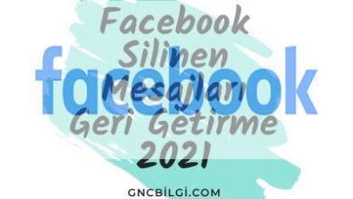 Facebook Silinen Mesajlari Geri Getirme 2021