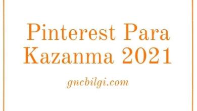 Pinterest Para Kazanma 2021