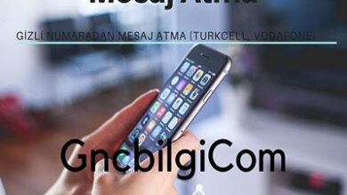 Gizli Numaradan Mesaj Atma Turkcell Vodafone