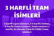 3 Harfli Team Isimleri Havali ve Az Bilinen Nickler