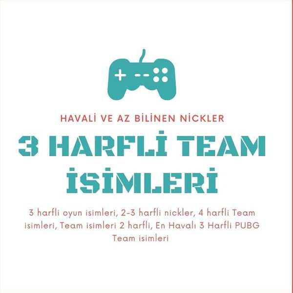 3 Harfli Team Isimleri