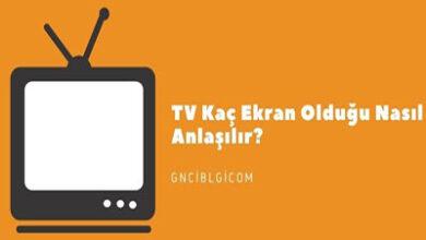 TV Kac Ekran Oldugu Nasil Anlasilir En Boy Olculeri